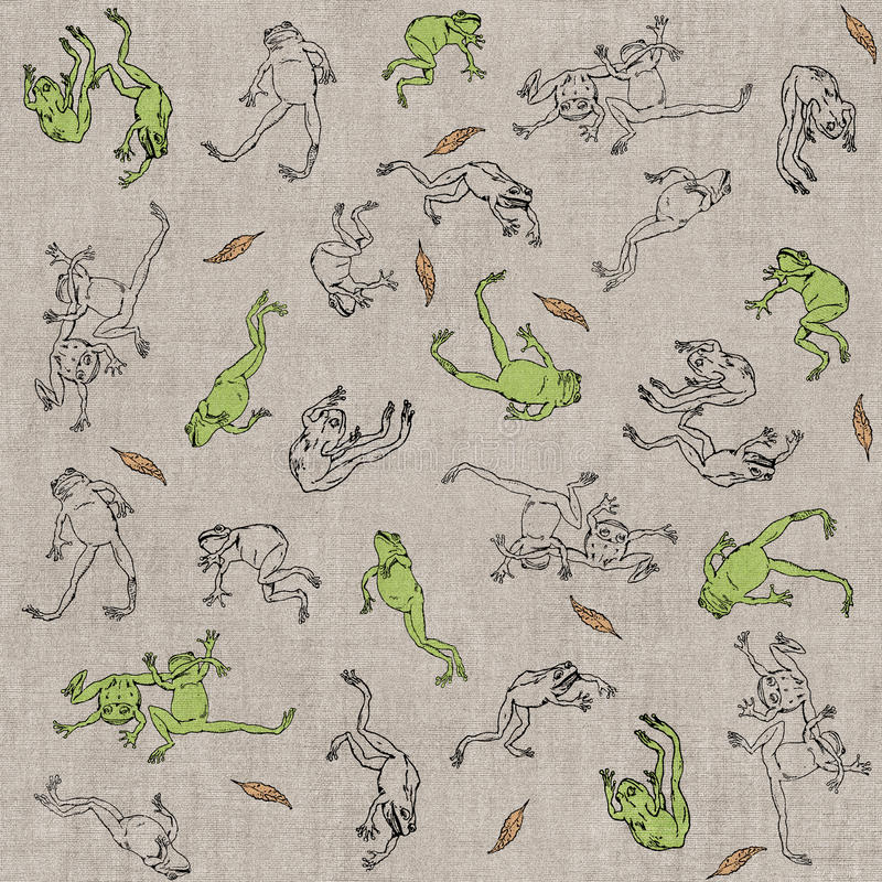 Flying frogs stock image