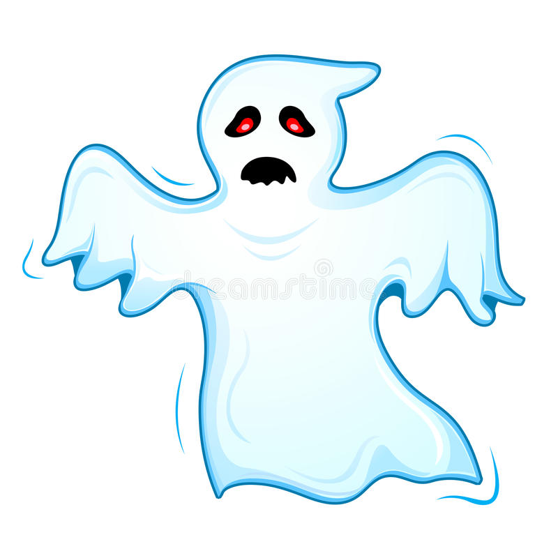 Flying Ghost vector illustration