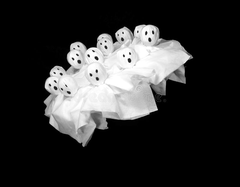 Download Flying Ghosts stock image. Image of treat, spooky, tissue - 3169277