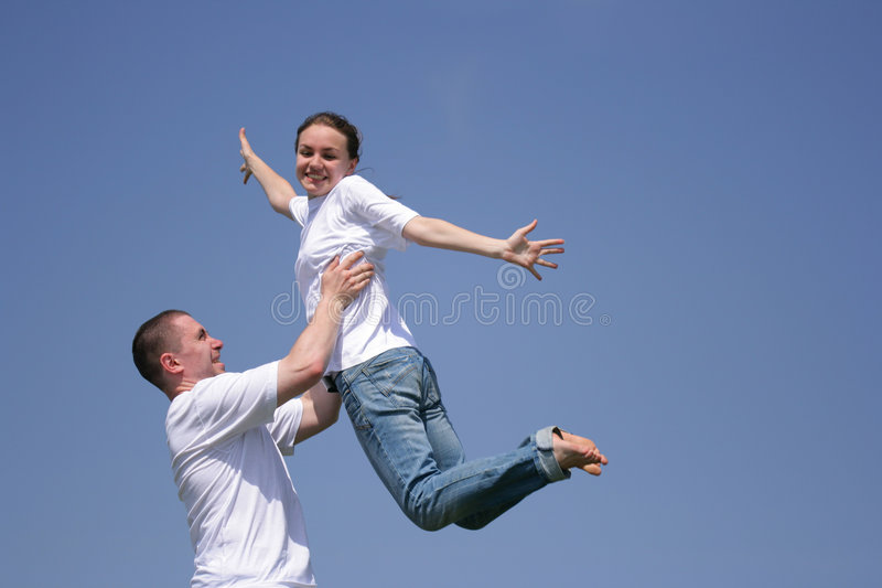 Download Flying girl stock image. Image of leap, flight, merriment - 2604799