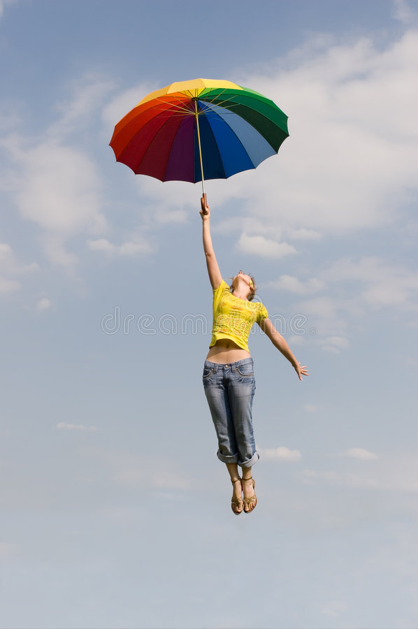 Flying girl royalty free stock image