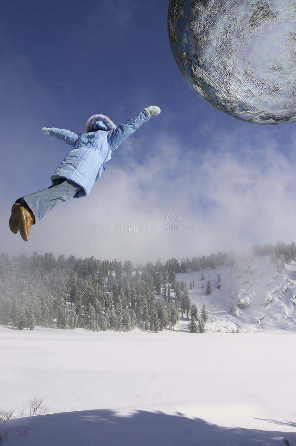Flying girl stock images