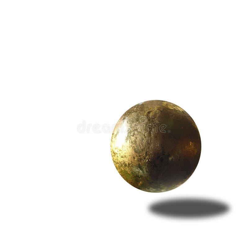 Flying golden ball stock images
