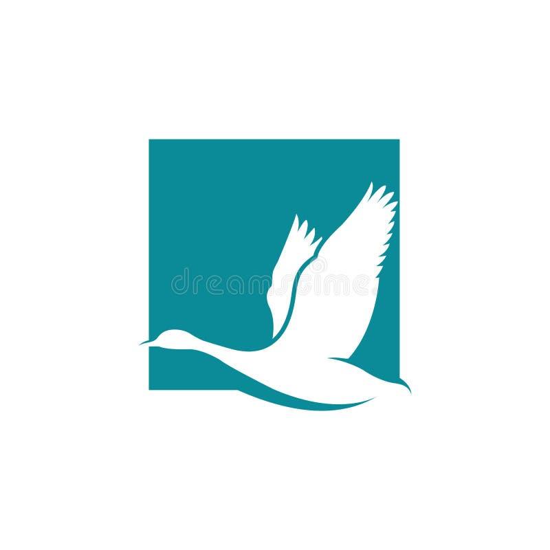 Free Flying Goose Vector Illustration, Bird Logo Design Inspiration Royalty Free Stock Photo - 130873005