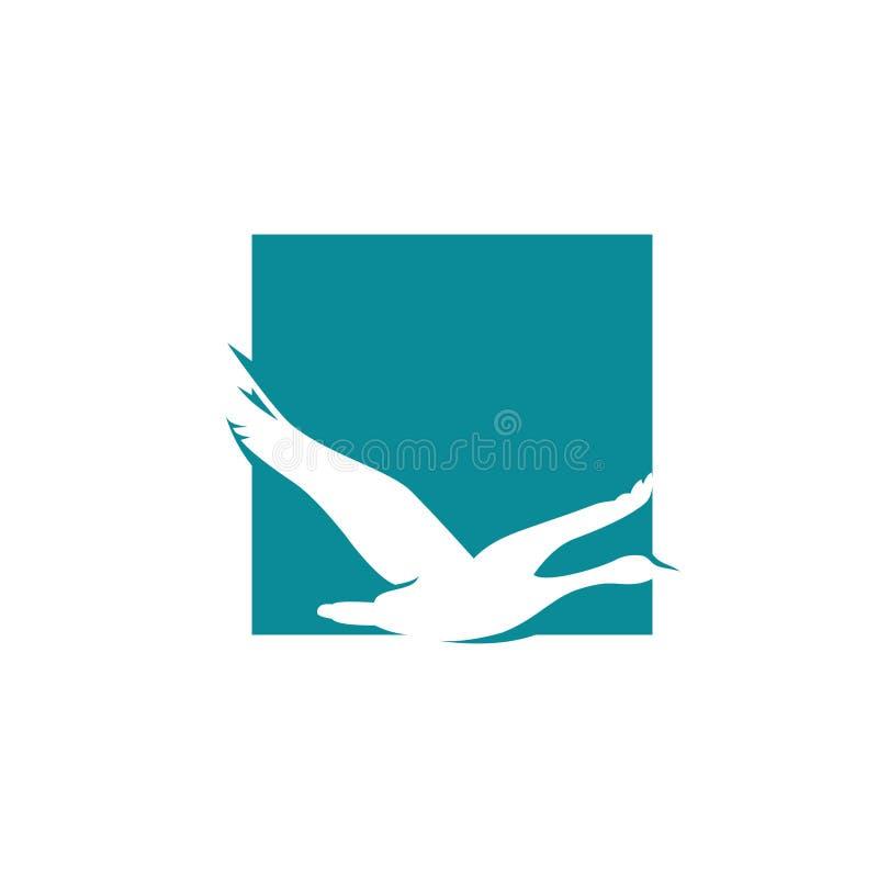 Free Flying Goose Vector Illustration, Bird Logo Design Inspiration Royalty Free Stock Photo - 130873055