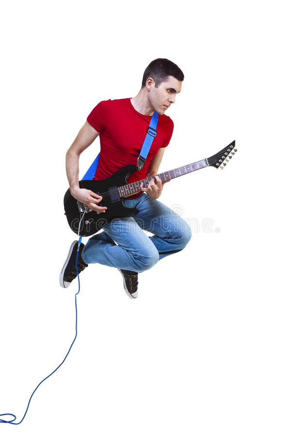 Flying Guitarist Stock Images