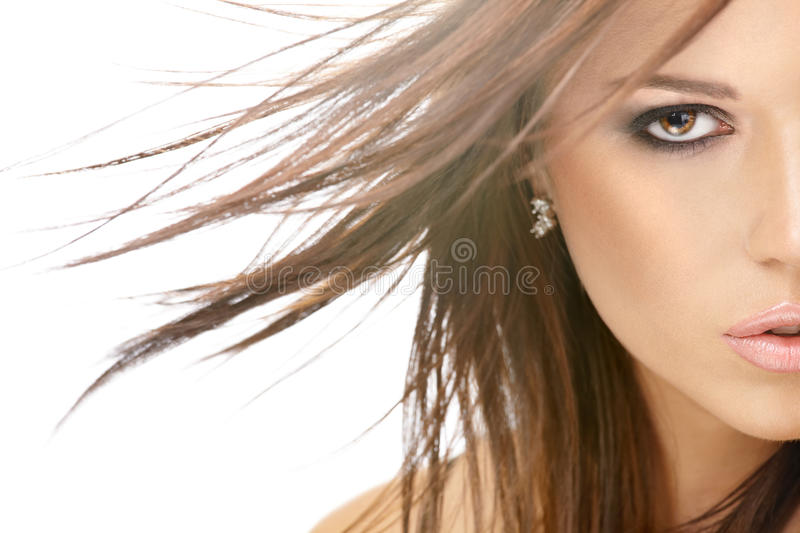 Flying hair stock image