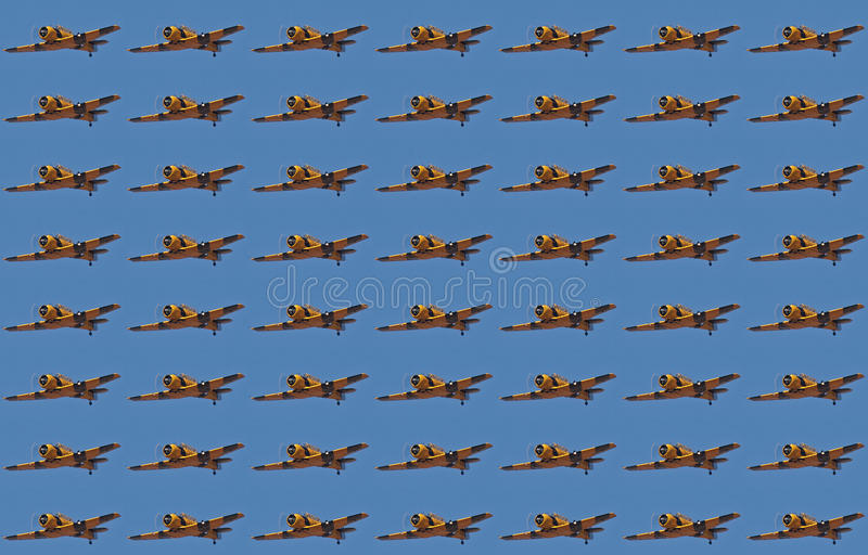 FLYING HARVARD WALLPAPER. Flying Harvard duplication and repeat wallpaper royalty free stock image