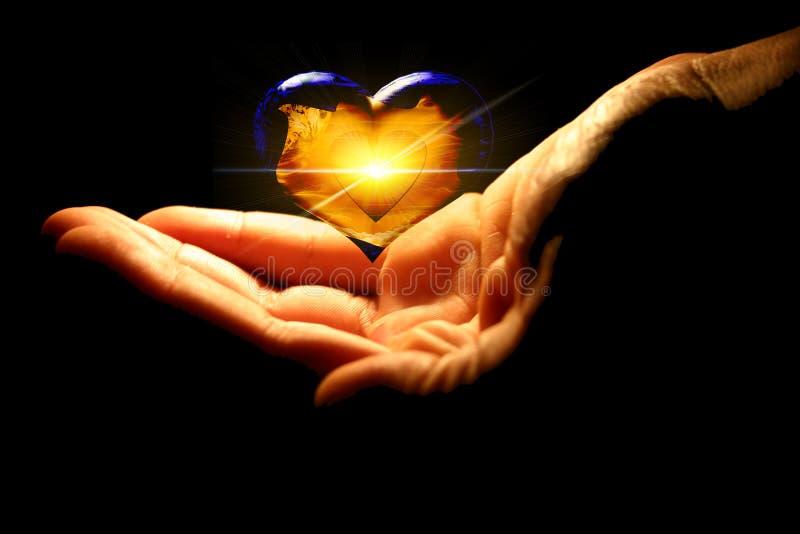 Download Flying heart stock illustration. Illustration of blurs, yellow - 14578