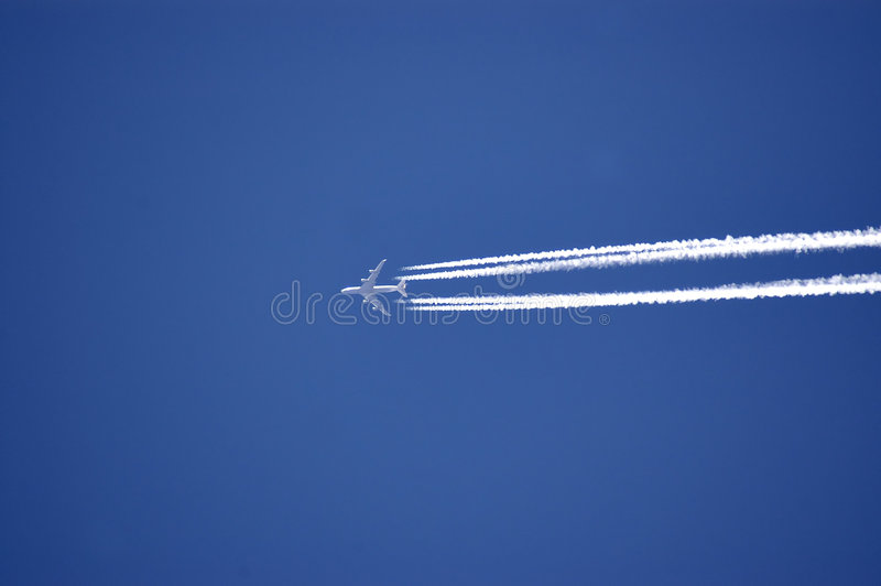 Download Flying High stock image. Image of plane, fast, vapor, vapour - 107623