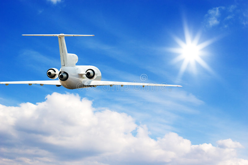 Flying in high sky royalty free stock photography