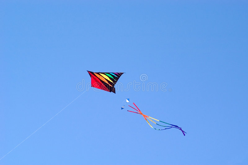 Download Flying Kite stock photo. Image of recreation, flying, bright - 102002