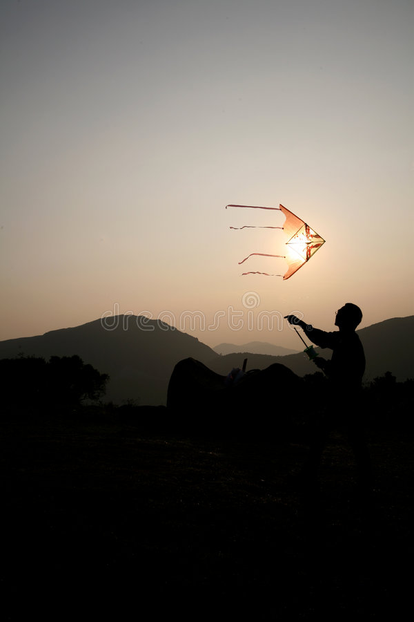 Download Flying kite stock photo. Image of person, happiness, control - 1635594