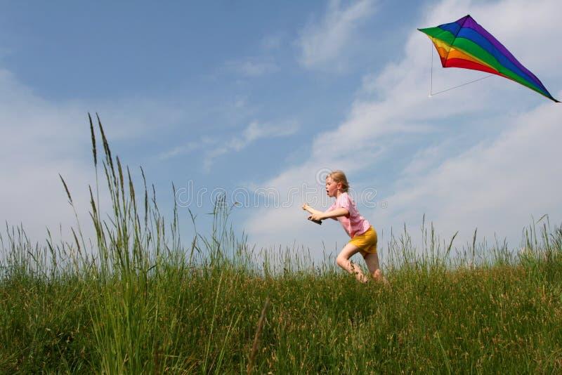 Flying kite royalty free stock photos