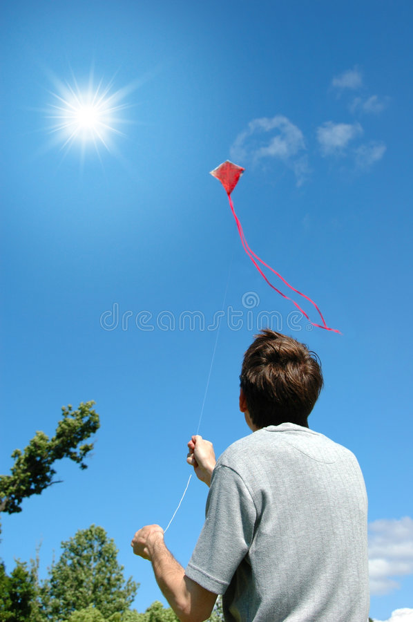 Download Flying a Kite stock image. Image of person, country, peaceful - 2756033