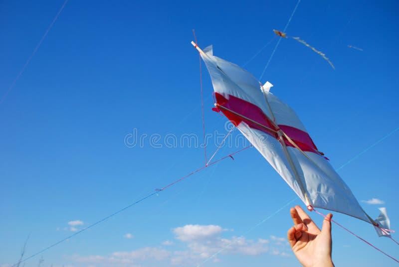Flying Kite Stock Images