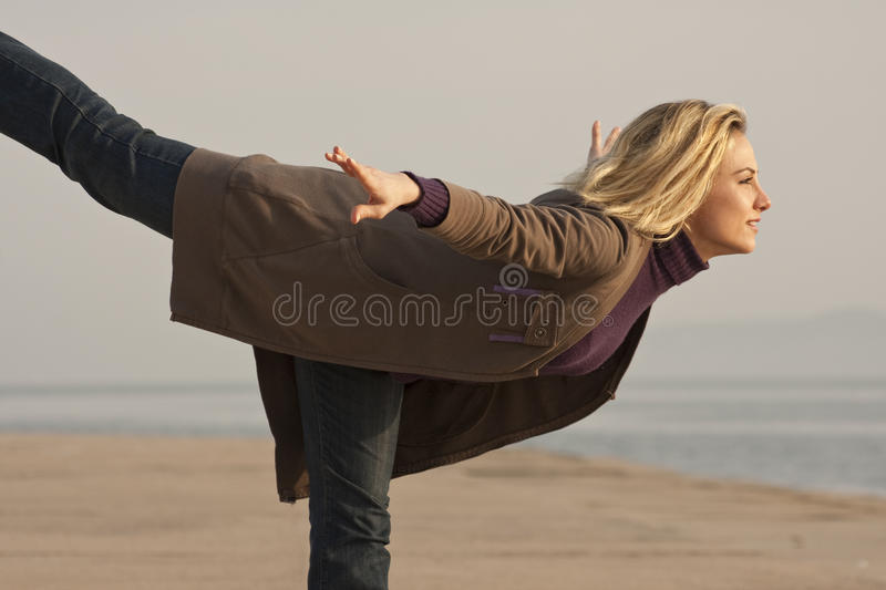 Flying lady stock photography