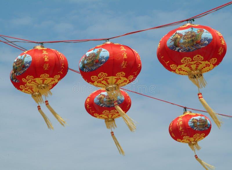 Flying Lampion royalty free stock photo