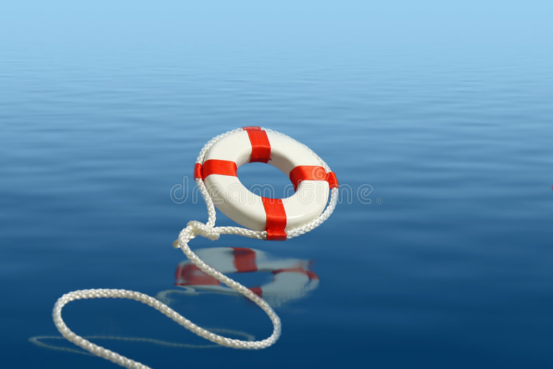 Download Flying Life Preserver For Help Stock Photo - Image: 3735660