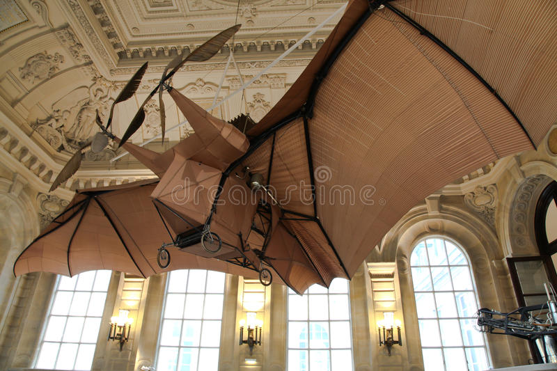 Flying machine - Invention Museum Paris France stock images