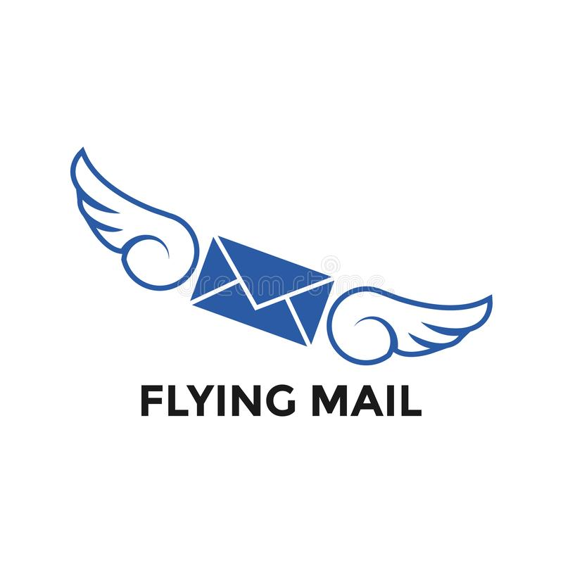 Flying mail graphic icon design template royalty free illustration