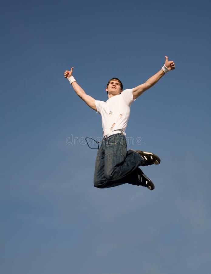 Flying man royalty free stock photos