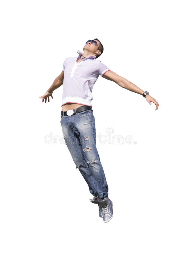 Download Flying Man With Blank Face Expession| Isolated Stock Image - Image: 15412495