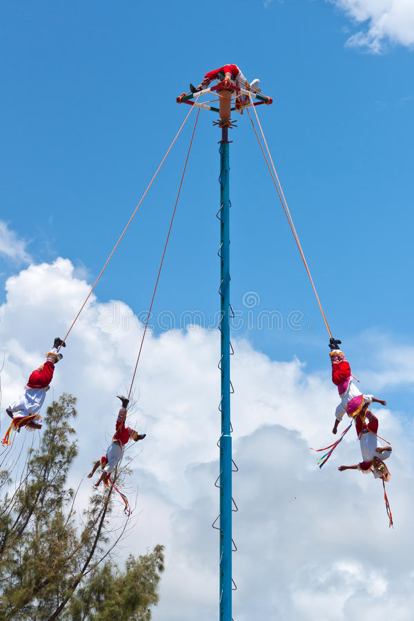 Flying Men Dance ceremony royalty free stock photography