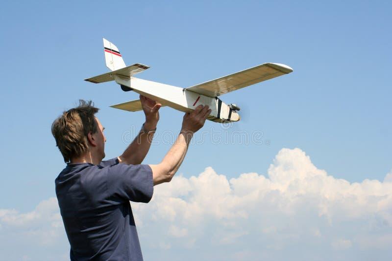Flying model stock photos