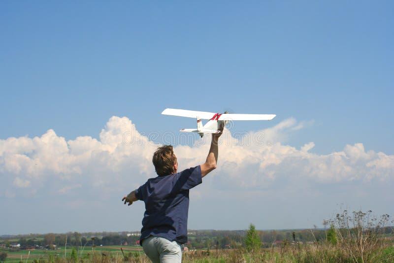 Flying model stock image