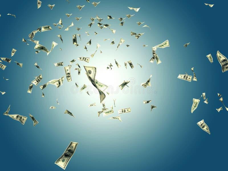Flying money stock illustration