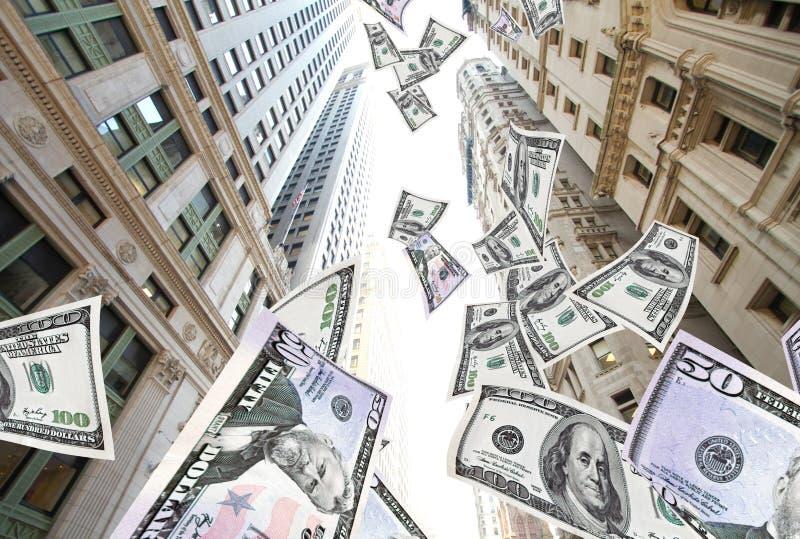Flying money NYC royalty free stock photos