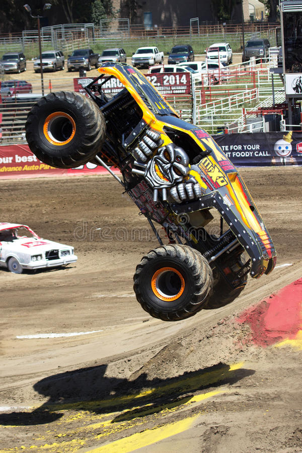 Flying Monster Truck royalty free stock images