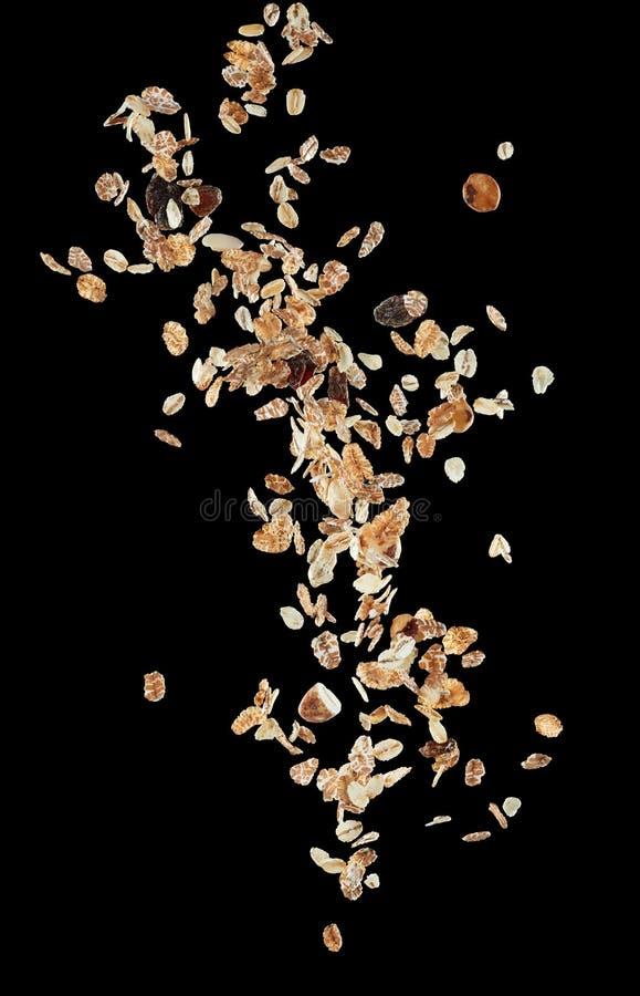 Download Flying muesli stock photo. Image of background, muesli - 90414036