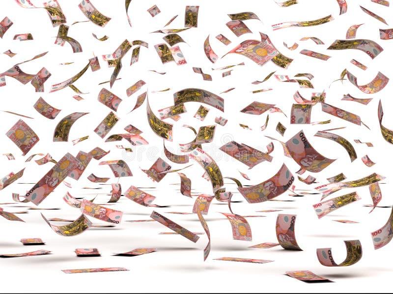 Flying New Zealand Dollars stock images