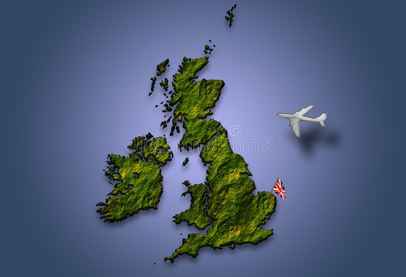 Flying Over Britain Royalty Free Stock Photo