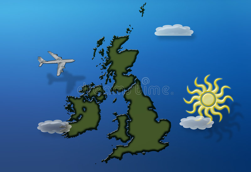 Flying Over Britain Summer Royalty Free Stock Image