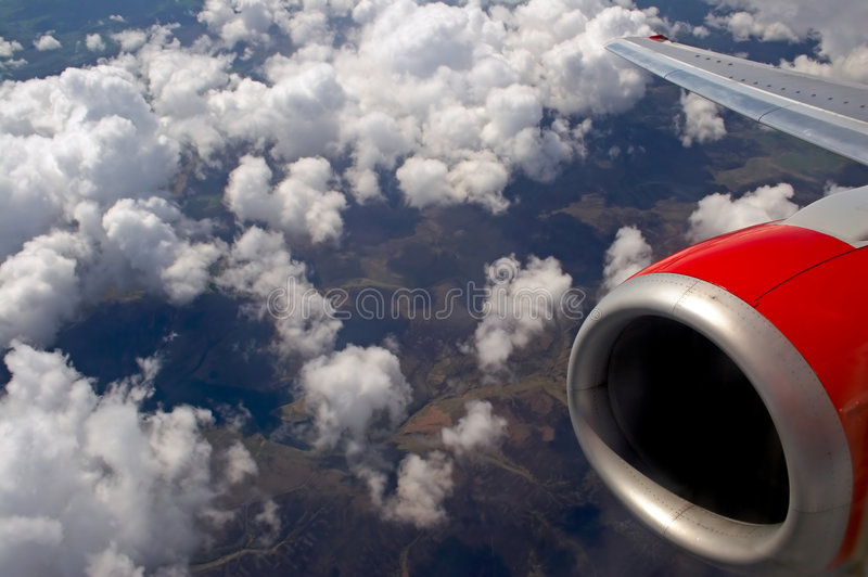 Flying over the English countryside royalty free stock images