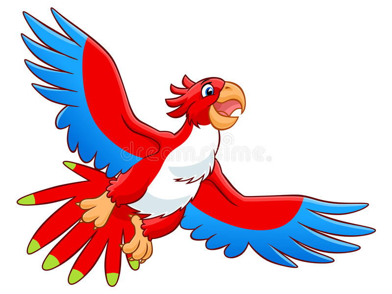 Flying parrot stock illustration