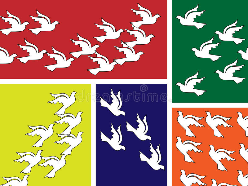 Flying Peace Dove Banner Stock Photo