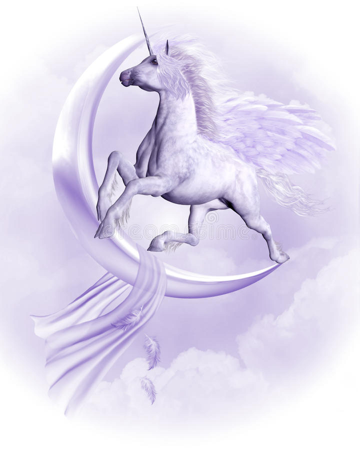 Download Flying Pegasus stock illustration. Image of fable, mystical - 18625554