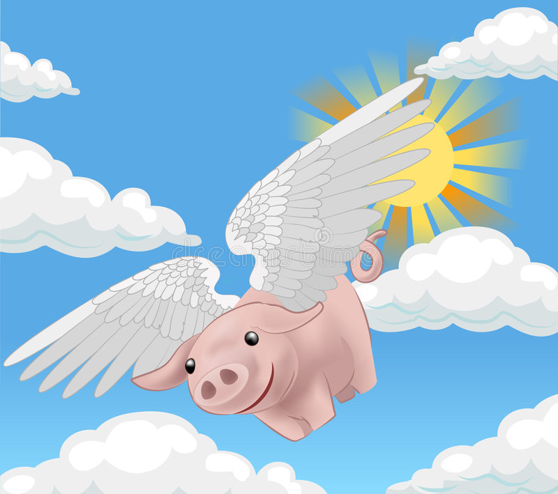 Download Flying pig stock vector. Image of conceptual, amazing, anything - 750192