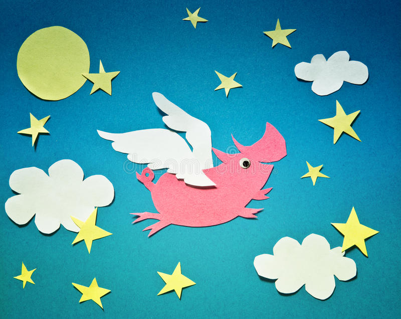 Flying pig royalty free stock photos