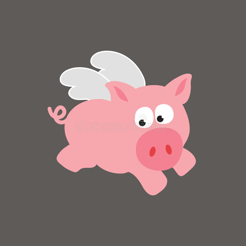 Download Flying Pig/Swine stock vector. Image of flapping, crazy - 10323969
