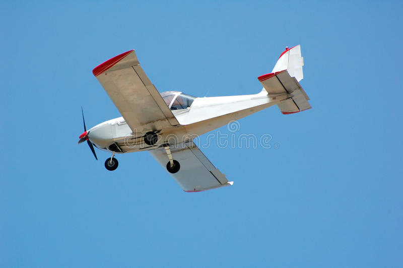 Flying plane royalty free stock photo