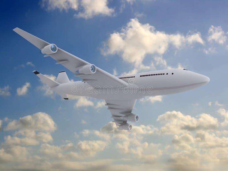 Flying plane vector illustration