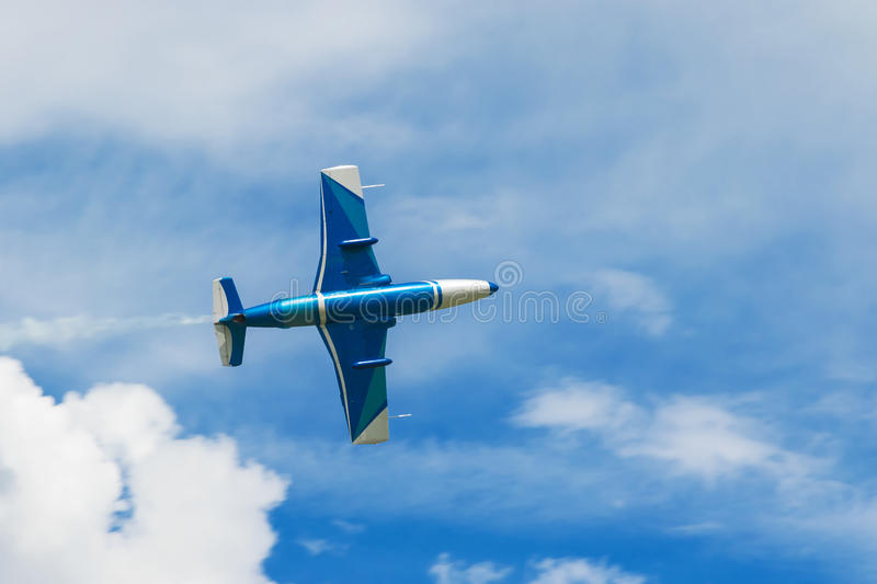 Flying a plane close-up royalty free stock images