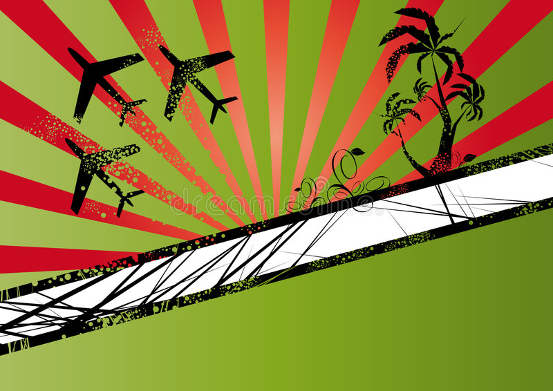 Download Flying Planes And Palm Trees Stock Vector - Image: 6009711