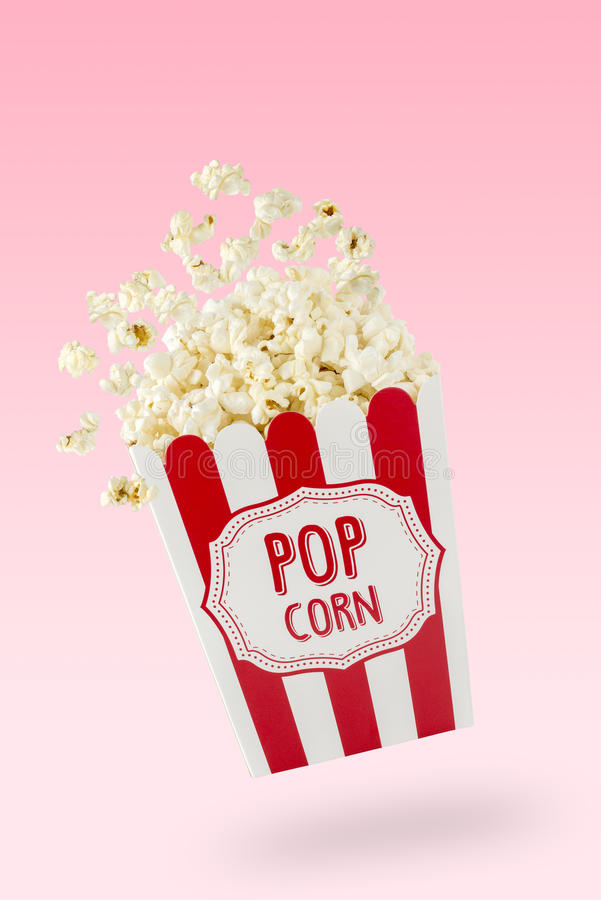 Flying popcorn royalty free stock images