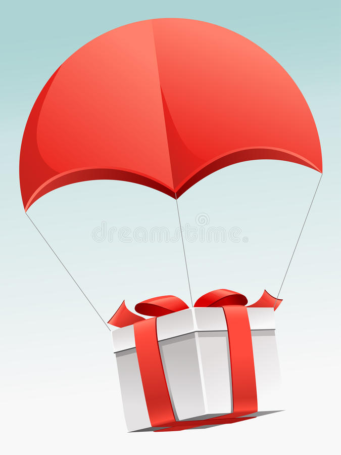 Download Flying present stock vector. Image of event, packaging - 18024032